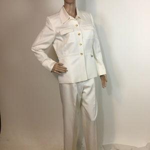 Talbots Silk Blend Career suit pant blazer 8 work